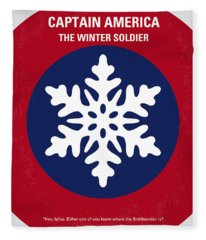 No329 My Captain America - 2 Minimal Movie Poster Fleece Blanket
