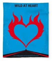 No337 My Wild At Heart Minimal Movie Poster Fleece Blanket