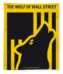 No338 My Wolf Of Wallstreet Minimal Movie Poster Fleece Blanket