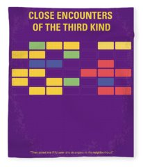 No353 My Encounters Of The Third Kind Minimal Movie Poster Fleece Blanket