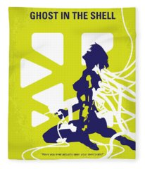 No366 My Ghost In The Shell Minimal Movie Poster Fleece Blanket