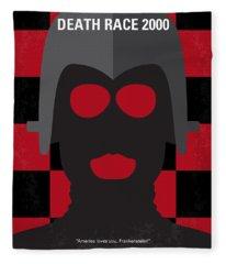 No367 My Death Race 2000 Minimal Movie Poster Fleece Blanket