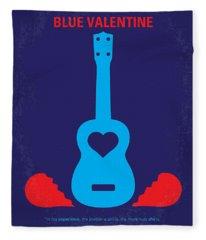 No379 My Blue Valentine Minimal Movie Poster Fleece Blanket