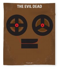 No380 My The Evil Dead Minimal Movie Poster Fleece Blanket