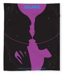No385 My Solaris Minimal Movie Poster Fleece Blanket