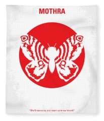 No391 My Mothra Minimal Movie Poster Fleece Blanket