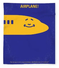 No392 My Airplane Minimal Movie Poster Fleece Blanket