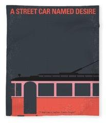 No397 My Street Car Named Desire Minimal Movie Poster Fleece Blanket