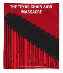 No410 My The Texas Chain Saw Massacre Minimal Movie Poster Fleece Blanket