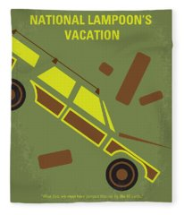 No412 My National Lampoons Vacation Minimal Movie Poster Fleece Blanket