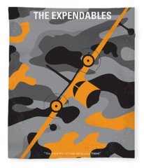 No413 My The Expendables Minimal Movie Poster Fleece Blanket