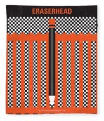 No414 My Eraserhead Minimal Movie Poster Fleece Blanket