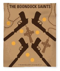No419 My Boondock Saints Minimal Movie Poster Fleece Blanket