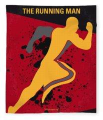 No425 My Running Man Minimal Movie Poster Fleece Blanket