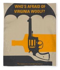 No426 My Whos Afraid Of Virginia Woolf Minimal Movie Poster Fleece Blanket