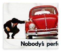 Nobodys Perfect - Volkswagen Beetle Ad Fleece Blanket