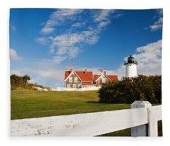 Nobska Point Lighthouse Fleece Blanket