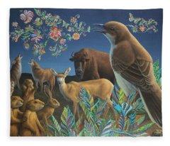 Nocturnal Cantata Fleece Blanket