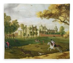 Nonsuch Palace In The Time Of King Fleece Blanket