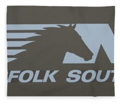 Norfolk Southern Railway Art Fleece Blanket