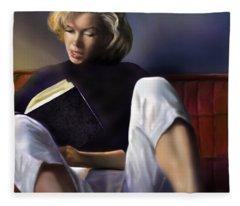 Norma Jeane Baker Fleece Blanket