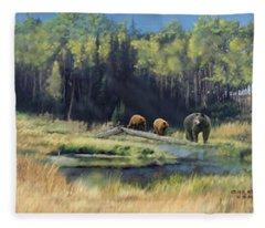 North American Waterhole Fleece Blanket