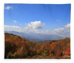 North Carolina Mountains In The Fall Fleece Blanket