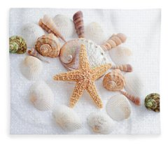 North Carolina Sea Shells Fleece Blanket