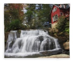 North Carolina Waterfall Fleece Blanket