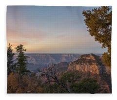 North Rim Sunrise 1 - Grand Canyon National Park - Arizona Fleece Blanket
