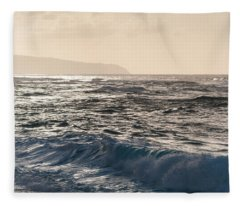 North Shore Waves Fleece Blanket