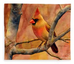 Northern Cardinal II Fleece Blanket