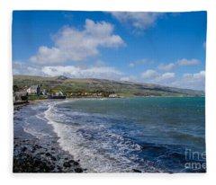Northern Ireland Coast Fleece Blanket