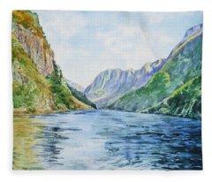 Norway Fjord Fleece Blanket