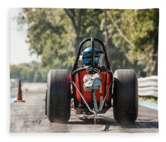 Nostalgia Front Engine Dragster Burnout Fleece Blanket