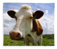 Nosy Cow Fleece Blanket
