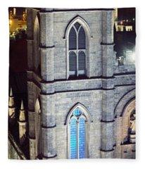 Notre Dame De Montreal At Night Fleece Blanket