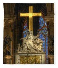 Notre Dame Pieta Fleece Blanket