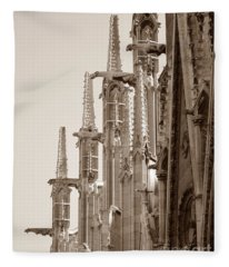 Notre Dame Sentries Sepia Fleece Blanket