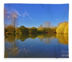 November Lake 1 Fleece Blanket