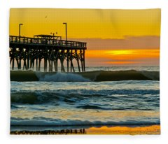 November Surf Fleece Blanket