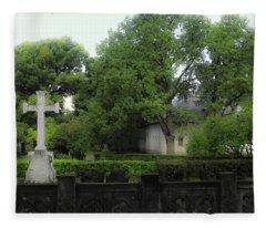 Novodevichy Cemetery 1 - Moscow - Russia Fleece Blanket