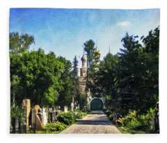 Novodevichy Cemetery 2 - Moscow - Russia Fleece Blanket