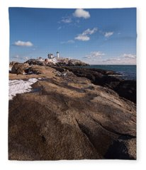Nubble Light Portrait Fleece Blanket