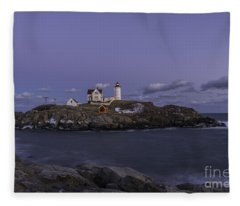 Nubble Lighthouse Fleece Blanket