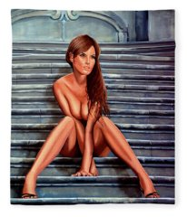 Nude City Beauty Fleece Blanket