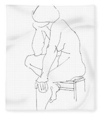 Nude Female Drawings 12 Fleece Blanket