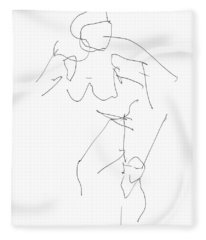 Nude Female Drawings 14 Fleece Blanket