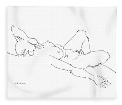 Nude Female Drawings 2 Fleece Blanket