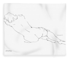 Nude Female Drawings 9 Fleece Blanket